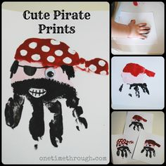 Pirate handprints by onetimethrough.com
