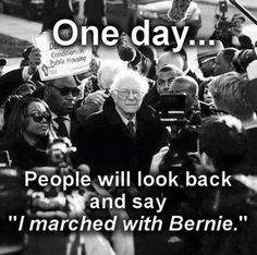 I marched with Bernie #JoinTheRevolution! #Bernie2016