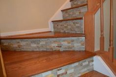 IDEAS FOR A STAIRCASE RISER | creative stair risers | Tile Risers Design ... | Projects I Would Lov ...