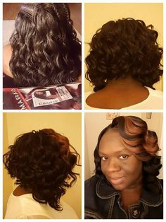 I looped mine 3-4 times then knotted it. I used small pieces 2 make sure it stayed. I used 3 bags cut n half then cut it n2 a bob. Very good hair.