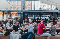 manifesto: cultural market of containers transforms disused prague site Urban Design Concept, Prague City, Quality Street, Shipping Container Homes, Shipping Containers, Cultural Experience, Capital City, The Unit, Culture