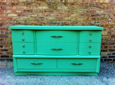 Vintage Dresser In Minty Green by minthome on Etsy