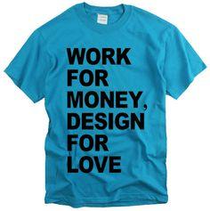 Work Money Design Love Design Graphic Letter Word Text Unisex T Shirt   eBay
