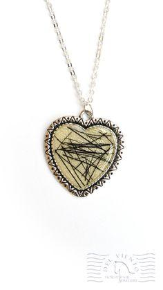 Heart resin pendant with horse hair Horse Hair Jewelry, Hair Jewellery, Resin Jewelry, Resin Pendant, Anklets, Horses, Heart, Earrings, Silver