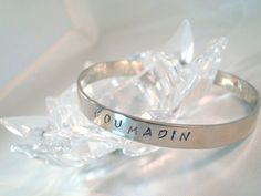 Personalized Stainless Steel Cuff Bracelet  by CrookedCrystal, $19.99 @Carm Gargiulo #VHO