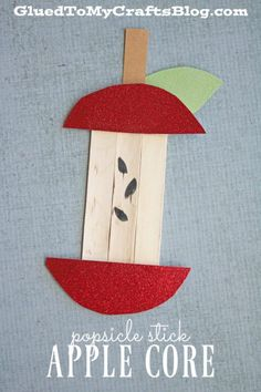 Popsicle Stick Apple Core - Kid Craft
