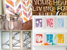 Opere darte fai da te per le pareti della vostra camera da letto