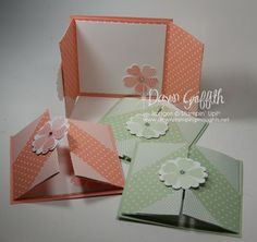 handmade cards .. Flower Shop ...  gate fold format ... monochromatic ... like the use of different papers in same color to make design pattern on the fron ... Stampin' Up!