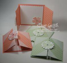 Flower Shop gate fold cards love the folds