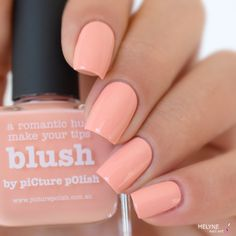 piCture pOlish = 'Blush' worn by Melyne Nail Art LOVE so pretty!  www.picturepolish.com.au