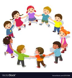 Illustration about Vector illustration of happy kids holding hands in a circle. Cute boys and girls having fun. Illustration of boys, daycare, diverse - 136845063 Children Holding Hands, Powerpoint Background Design, Flashcards For Kids, School Frame, Cartoon Clip, School Clipart, Donia, Child Day, Kids Prints
