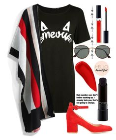 """215"" by erohina-d ❤ liked on Polyvore featuring Boohoo, Chicwish, MAC Cosmetics, Gianvito Rossi, Ray-Ban, Christian Dior, NARS Cosmetics and Grey's Anatomy"