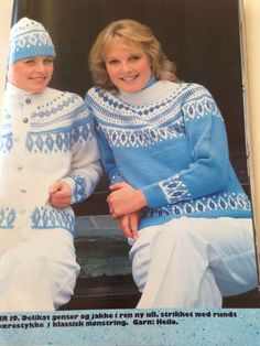 Heilo 19 fra hefte fra No pattern - dead end But example: color Love Blue, Blue And White, Norwegian Knitting, Norway, Bb, Weaving, Graphic Sweatshirt, Houses, Sweatshirts
