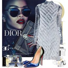 The Magic Sky by eleonoragocevska on Polyvore featuring polyvore fashion style Christian Louboutin Christian Dior NARS Cosmetics Chanel Sergio Rossi