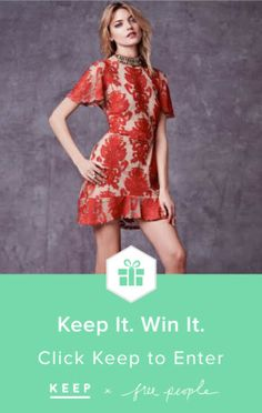 The perfect #party dress. Win it on @Keep! #keepitwinit #FreePeople