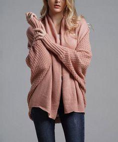 VUTTI Pink Dolman-Sleeve Open Cardigan - Women | Zulily