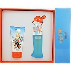 I LOVE LOVE by Moschino Gift Set for WOMEN: EDT SPRAY 1 OZ & BODY LOTION 1.7 OZ by I LOVE LOVE. $30.19. Design House: Moschino. Fragrance Notes: Lemon, Orange, Red Currant, Grapefruit, Bulrushes, Lily-of-the-Valley, Cinnamon Leaves, Tea Rose, Musk, Cedar, Tanaka Wood. Recommended Use: casual. I LOVE LOVE by Moschino for WOMEN EDT SPRAY 1 OZ & BODY LOTION 1.7 OZ Launched by the design house of Moschino in 2005, I LOVE LOVE by Moschino possesses a blend of Lemon, Orange, Re...