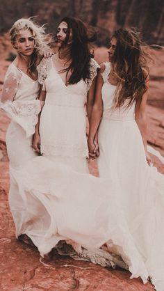 Bohemian wedding dresses by Chantel Lauren