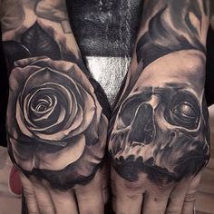 A couple of sick hand tattoos by @fred_flores on #Instagram #inkslingers #savemyink
