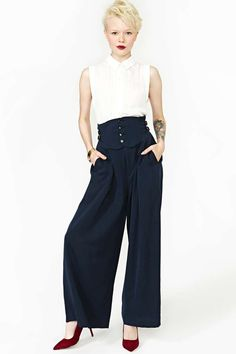 Lots of great vintage finds on Nastygal.com | Matsuda Infinity Pants