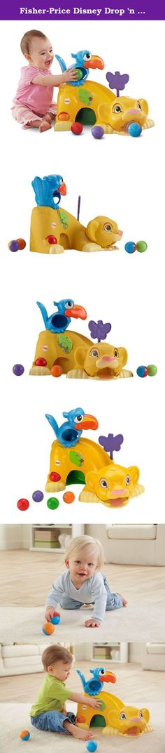 Fisher-Price Disney Drop 'n Roar Simba. No Worries—Baby Will Have a Ball Fisher-Price Disney Baby The Lion King Drop 'n Roar Simba is full of exciting surprises for Baby—along with silly sounds, character phrases, and familiar sing-along songs, including Baby's favorite from The Lion King! When Baby drops balls into Zazu, the balls either roll down Simba's back and right out of his mouth...or, surprise!...they drop through the chute and roll out from under Simba's belly. Baby will have a...