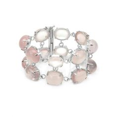 Exquisite Bracelet With 286.00ct TW Genuine Quartz in 925 Sterling silver. Total item weight: 75.5g. Length: 8in.