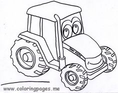 john deere coloring pages - John Deere Combine Coloring Pages