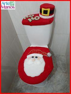 Cómo hacer Juegos de Baño para Navidad, Santa Claus y Muñeco de Nieve Christmas Deco, Xmas, Christmas Tree, Christmas Ornaments, Ideas Para, Diy And Crafts, Craftsman Bathroom, Christmas Bathroom, Christmas Decor