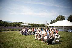 Wedding attendees awaiting the ceremony #lavenderfarm #hoodriver #organic #oregon