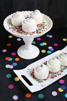 Happy Birthday Cupcake Jello Shots made with cakeflavored vodka