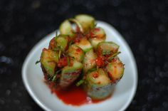Cucumber Kimchi (Oi Sobaegi) Recipe - Recipe for Oi Sobaegi