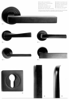 1 Pittella Black Opaque Range - Pittella Door Handles - Door Handles - Products - Architectural Design Hardware