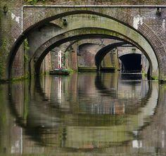 De grachten van Utrecht.