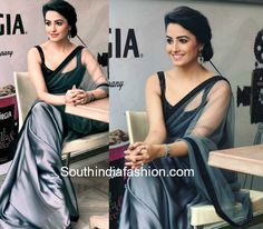 17 ultra stylish blouse designs sported by Yeh Hai Mohabbatein actress Anita Hassanandani aka Shagun Arora. Anita or Shagun never fails to surprise us with her stylish designer sarees and blouses…More Classic Indian Saris CLICK VISIT link for more info Shagun Blouse Designs, Saree Blouse Neck Designs, Saree Designs Party Wear, Party Wear Sarees, Saree Hairstyles, Grey Saree, Sari Design, Satin Saree, Cotton Saree