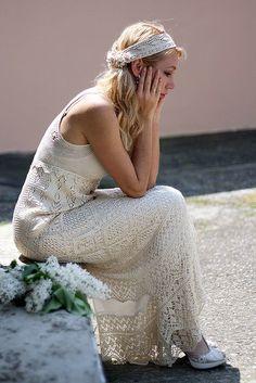 Love the Vintage feel of this Wedding Dress!. #inspiration_crochet_diy GB ...