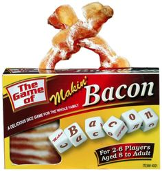 Makin' Bacon Board Game - 100% Daily requirement - But It's fun…not food.