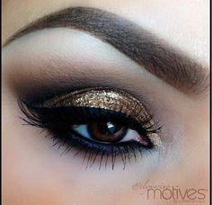 Gold glitter smokey eye @Ms.Janette P !!! Pretty pleeease xo