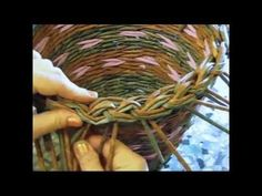 (11) Recycling newspaper. How to make the edging. Part 5.2. - YouTube