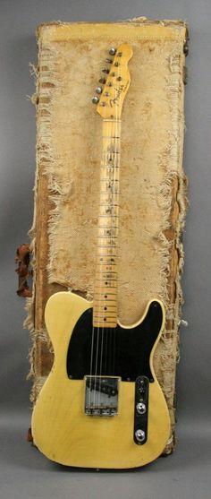 USA 1953 Vintage Fender Telecaster Esquire Blackguard guitar original OHSC… #vintageguitars