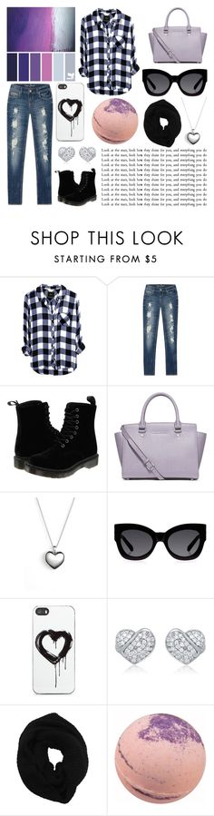 """""""Friday Night"""" by dreamingdaisy ❤ liked on Polyvore featuring Dr. Martens, MICHAEL Michael Kors, Pandora, Karen Walker, Zero Gravity, Wyatt and plus size clothing"""