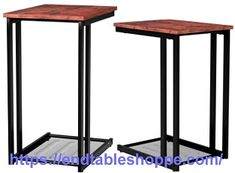 Round End Tables, Black End Tables, End Tables With Drawers, End Tables With Storage, Mission Style End Tables, Table Dimensions, Storage Drawers, Open Shelving