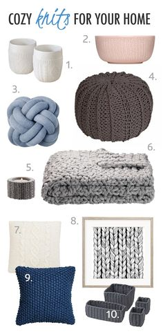 With this cold & grey weather cozy knits are essential, not only to wear but also as decor elements in your home. Adding little hints of knitted design creates a lovely environment, and is a great way to keep warm and decorate your home at the same time // That Scandinavian Feeling blog