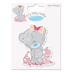 Picture of Me to You Tiny Tatty Teddy Girl Clear Stamps - Roses