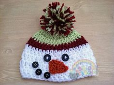 My Crochet Baby Snowman Christmas Winter Hat Photo by BrightCrochet, $14.00