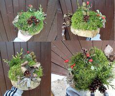podzimní dekorace na stůl, co les dal během vycházky