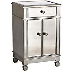 Hayworth Bedside Chest - Silver - Home Decor Furniture Ideas
