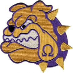 Omega Psi Phi Bulldog Face Iron-On Patch | The Cultural Exchange ...