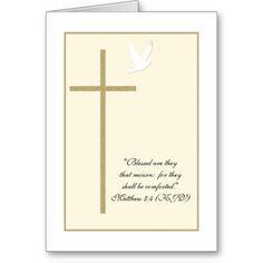 Religious Sympathy Cards   Religious Christian Sympathy Card -- Cross & Dove