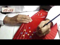 """Pintado de abanico paso a paso """"Diseño Armonía"""" - YouTube Fan Decoration, Party Favors, Youtube, Fans, Gifts, Diy, Videos, Home Decor, Hand Fans"""