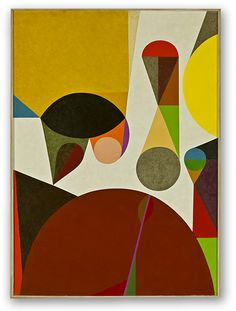 """""""Summon up, #11"""", 1958 by Frederick Hammersley oil on linen 49 x 34 3/4 in. The National Gallery of Art"""